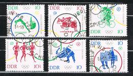 DDR 1033/1038 Gestempelt - Olympische Spiele 1964 - Oblitérés