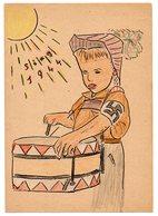 Sing 1944 Trommlerjunge Feldpostkarte Ungebraucht - Deutschland