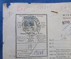 Censored 1937 POLAND Hungary MÁV Transport Railway IMPRINT WAYBILL REVENUE Bielsko Customs Declaration LABEL VIGNETTE - Revenue Stamps