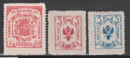 1937 ALGARINEJO CARIDAD. 3 PIEZAS NUEVAS*/(*). VER - Verschlussmarken Bürgerkrieg