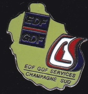 65357-Pin's.EDF-GDF.Champagne.numéroté 865 - EDF GDF