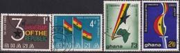 GHANA 1963 SG 311-14 Compl.set Used Third Anniv Of Republic - Ghana (1957-...)