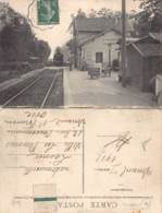 41 - LOIR ET CHER - VINEUIL - 10048 - GARE - CARTE DOUBLE Horaires De Train - Paris, Chantilly, Crépy, Soissons, Reims - Autres Communes