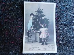 Couple D'enfants, Sapind De Noël, Poupée    (B10) - Jeux Et Jouets