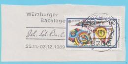 J.P.S. 9 - Compositeur - J.S. Bach  N° 70 - Allemagne Ouest - Oblitération - Wurzburg 1989 - Musique