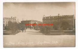 CPA Carte-photo CHILI Rare Plaza Munoz Gamero MAGALLANES 1936 - Chile