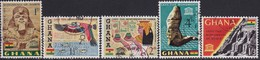 GHANA 1963 SG 319-23 Compl.set Used Nubian Monuments - Ghana (1957-...)