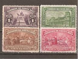 Costa Rica  Yvert  116, 119A-20A (usado) (o) - Costa Rica