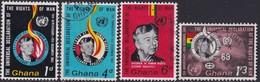 GHANA 1963 SG 328-31 Compl.set Used Declaratioin Of Human Rights - Ghana (1957-...)