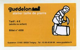 Atelier Taille De Pierre, Chantier Médiéval De Guédelon (Yonne, France). Stonecutter Activity, Tailleur De Pierre... - Tickets D'entrée