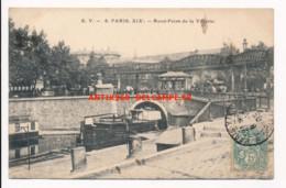 CPA 75 PARIS XIXe Rare Plan Rond-Point De La Villette - Arrondissement: 19