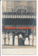 CPA 75 PARIS XIXe Carte-photo Devanture Boucherie Du Bon Marché L. Merle Signée Du Patron - Arrondissement: 19