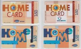 ISRAEL 2002 BARAK 013 HOME CARD 150 UNITS 4 DIFFERENT CARDS - Israel