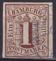 HAMBOURG - 1 S. Oblitéré FAUX - Hamburg