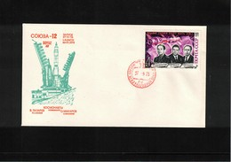 Russia USSR 1973 Space / Raumfahrt Soyuz -12 Interesting Letter - Lettres & Documents