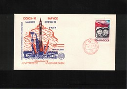 Russia USSR 1974 Space / Raumfahrt Soyuz -16 Interesting Letter - Lettres & Documents