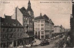 ! Alte Ansichtskarte Berlin Rixdorf, Berlinerstraße Mit Warenhaus H.Joseph, Straßenbahn, Tram - Rixdorf