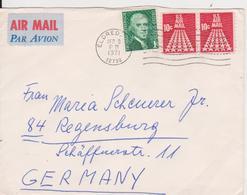 ENVELOPPE LETTER COVER PAR AVION  UNITED STATES  SENT GERMANY - United States