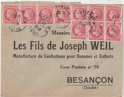 Enveloppe 1948 / Affranchissement Multiple / Ceres N° 676 X 10 - Postmark Collection (Covers)