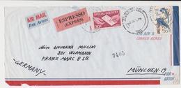 ENVELOPPE LETTER COVER PAR AVION ESPRESSO EXPRES 1968  UNITED STATES  SENT GERMANY - United States