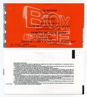 Cirque Du Soleil. Spectacle : Alegria. Zénith De Toulouse, Janvier 2012. Ticket Box Office. Circus - Tickets D'entrée