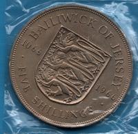 BAILIWICK OF JERSEY 5 SHILLINGS 900th Anniversary - Battle Of Hastings  1066 - 1966  KM# 28 - Jersey
