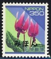 JAPAN (1994) Adder's Tongue Lily. Definitive Series Overprinted MIHON (specimen). Scott No 2166 - Japan