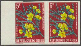 NIGER (1964) Parkinsonia Aculeata. Imperforate Pair. Scott No 129, Yvert No 135. - Niger (1960-...)