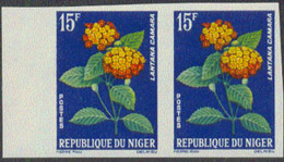 NIGER (1964) Argyreia Nervosa. Imperforate Pair. Scott No 132, Yvert No 138. - Niger (1960-...)