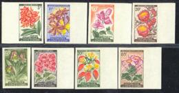 IVORY COAST (1961) Flowers. Set Of 8 Imperforates. Scott Nos 183-90, Yvert Nos 192a-98. - Ivory Coast (1960-...)