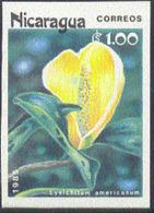NICARAGUA (1985) Lysichitum Americanum. Imperforate. Scott No 1456, Yvert 1367. - Nicaragua
