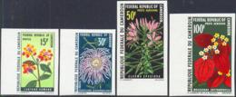 CAMEROUN (1970) Flowers. Set Of 4 Imperforates. Scott Nos 501-2,C240-1. Yvert Nos 481-2,PA155-6. - Cameroon (1960-...)