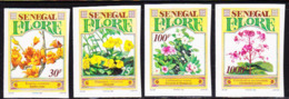 SENEGAL (1995) Flowers. Set Of 4 Imperforates.  Scott Nos 1139-42, Yvert No 1118-21. - Senegal (1960-...)