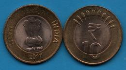 INDIA 10 RUPESS 2017 ° Noida Mint KM# 400 Bimetallic - Indien
