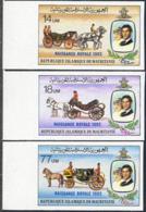 MAURITANIA (1982) Stagecoaches. Set Of 3 Imperforates. Scott Nos 518-20, Yvert Nos 511-3. - Mauritania (1960-...)
