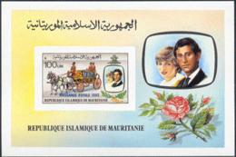 MAURITANIA (1982) Stagecoach. Imperforate S/S. Scott No 521, Yvert No BF36. - Mauritania (1960-...)
