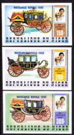 NIGER (1982) Stagecoaches. Set Of 3 Imperforates. Scott Nos 595-7, Yvert Nos 583-5. - Niger (1960-...)
