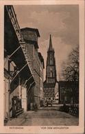 ! Alte Ansichtskarte Rathenow, Vor Dem Mühlentor, Kirche - Rathenow