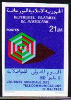 MAURITANIA (1982) Telecommunications. Imperforate.  Scott No 513, Yvert No 506. - Mauritania (1960-...)