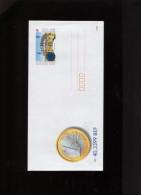 Belgie Geillustreerde Brief Euro Introductie Bruphila 1999 Europa CEPT New Face 0.87€ - Illustrat. Cards