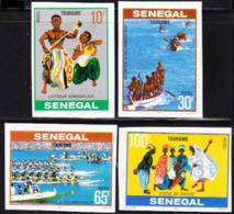 SENEGAL (1978) Tourist Attractions. Set Of 4 Imperforates.  Scott Nos 466-9, Yvert No 480-3. - Senegal (1960-...)