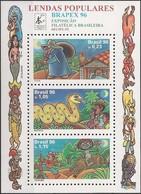 BRAZIL - SS POPULAR LEGENDS AND BRAPEX'96, BRAZILIAN PHILATELIC EXHIBITION 1996 - MNH - Philatelic Exhibitions