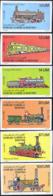 MAURITANIA (1980) Locomotives. Set Of 6 Imperforates. Scott Nos 469-74, Yvert Nos 466-71. - Mauritania (1960-...)