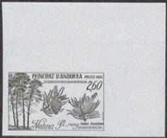 ANDORRA (1982) Scots Pine. Imperforate. Scott No 301, Yvert No 307. - Andorra Francesa