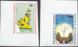 CAMEROUN (1986) Arbor Day. Set Of 2 Imperforates. Scott Nos 831-2, Yvert Nos 810-1. - Cameroon (1960-...)