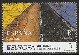 2020-ED. 5403 -Europa. Antiguas Rutas Postales- USADO - 1931-Oggi: 2. Rep. - ... Juan Carlos I