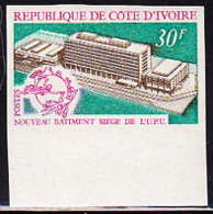 IVORY COAST (1970) UPU Building. Imperforate. Scott No 295, Yvert No 301. - Ivory Coast (1960-...)