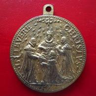Médaille - Création De L'ordre Du St Esprit 1579 (reproduction) - Henri III - Intevere Christus - 40mm 31,74g - Adel