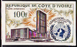 IVORY COAST (1962) UN Building. Imperforate. Scott No C21, Yvert No PA25. - Ivory Coast (1960-...)