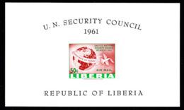 LIBERIA (1961) Liberia's Membership In UN Security Council. Imperforate S/S. Scott No C131, Yvert No BF18. - Liberia